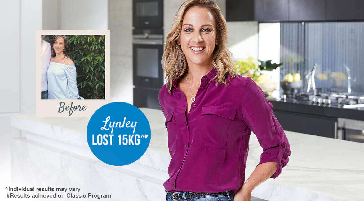 Find out how Lynley lost 15kg^ with Jenny Craig